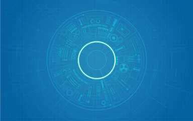 abstract futuristic background, technological blueprint