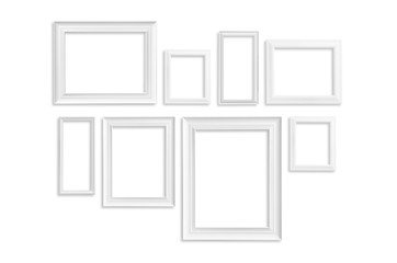 White frame isolated