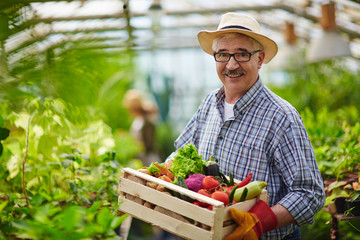 Mature gardener