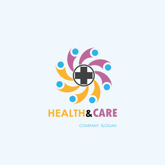Healthcare,Medical and Science symbol.Healty lifestyle vector