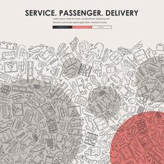 delivery Doodle Website Template Design