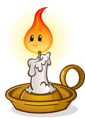 Candle Stick Antique Cartoon Character