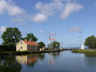 Am Götakanal in Sjötorp, Schweden