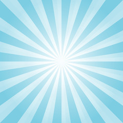 Abstract background. Light Blue rays background. Vector