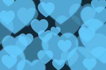 Blue Heart bokeh background.