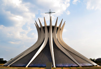 Outside of Brasilia Cathedral