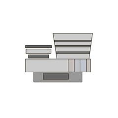 Modern Art Museum. icon, symbol, emblem. vector illustration.