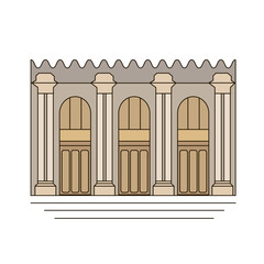 Metropolitan Museum of Art. icon, symbol, emblem. vector illustration.