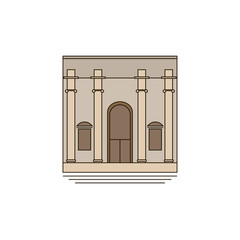 American Museum of Natural History. icon, symbol, emblem. vector illustration.