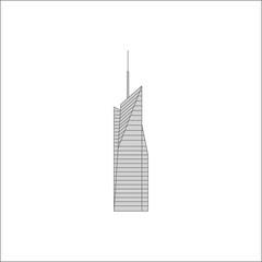 Bank of America Tower. icon, symbol, emblem. vector illustration.