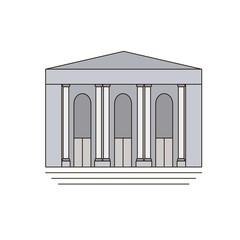 New York Public Library. icon, symbol, emblem. vector illustration.