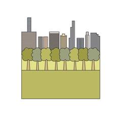 central park. icon, symbol, emblem. vector illustration.