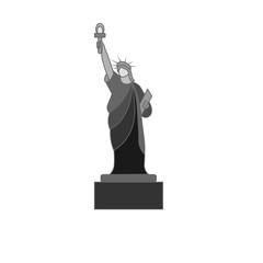 Statue of Liberty. icon, symbol, emblem. vector illustration.