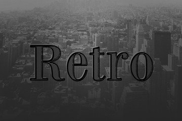 Retro Old Movie Title