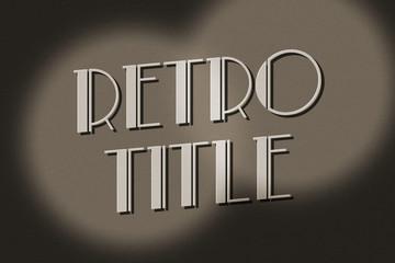 Retro Movie Title