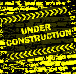 under construction background - vector