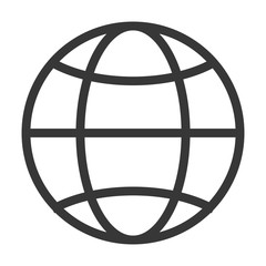 earth globe diagram icon