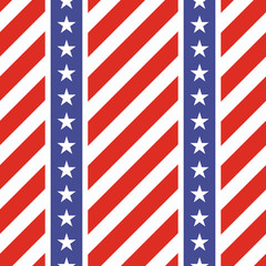 Patriotic USA seamless pattern