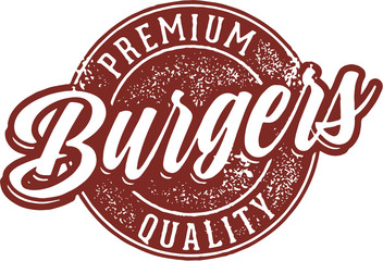 Premium Burgers Menu Sign