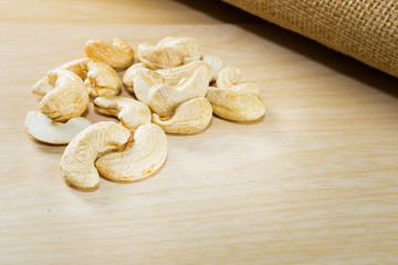 cashew nuts, group of cashew nuts on table.