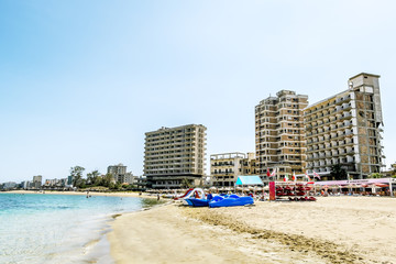 Varosha the abandoned Ghost city in Famagusta .Northern Cyprus.