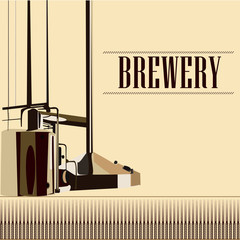 beautiful vector vintage brewery