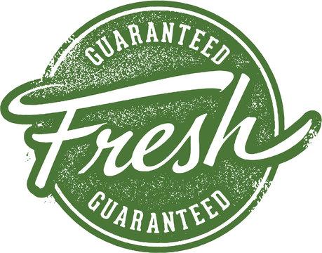 Guaranteed Fresh Product Label