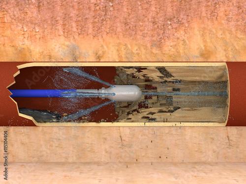 rohrreinigung mit hochdruckd se stockfotos und lizenzfreie bilder auf bild 115104404. Black Bedroom Furniture Sets. Home Design Ideas