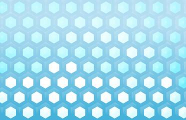 hexagonal light blue background