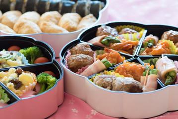 bento (Japanese lunch box) , Inari Sushi  and Norimaki