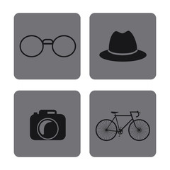 icon set. Hipster Style design. Vector graphic