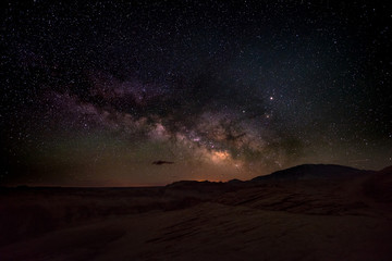 Milky Way rising behind Navajo Mountain