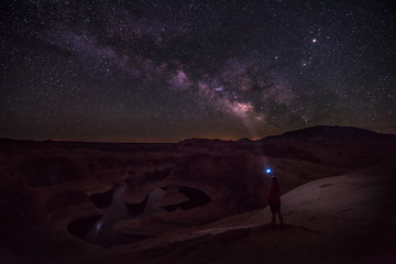 Light painting the Milky Way