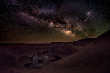 Milky Way ove the Reflection Canyon Utah USA Landscapes