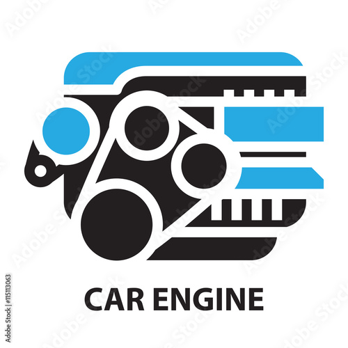 Car Engine Icon And Symbol Stock Image And Royalty Free Vector
