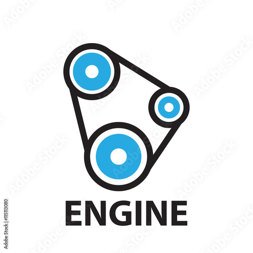 Belt Car And Gear Engine Icon And Symbol Stock Image And Royalty