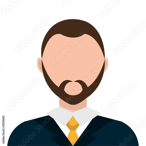quotbusinessman profile with beard and elegant suit vector