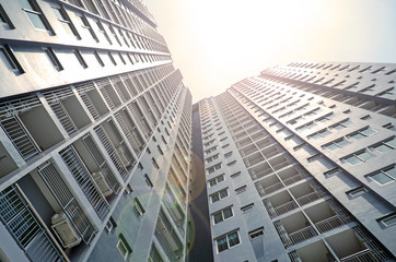 High building residence background.