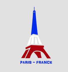 Eiffel Tower Paris France symbol logo