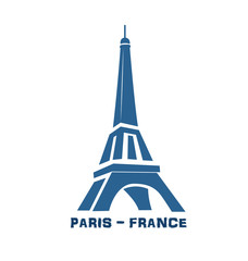 Eiffel Tower Paris France logo