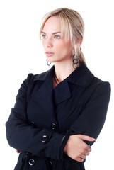 young woman in business suit