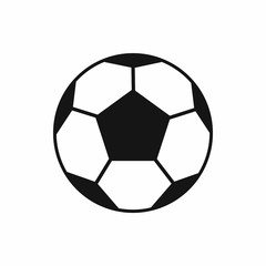 Soccer ball icon in simple style isolated vector illustration. Games symbol