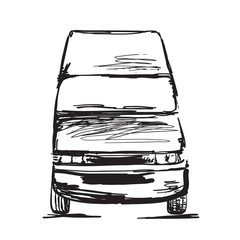 Hand drawn commercial transport.