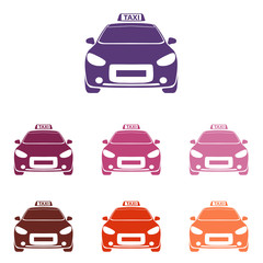 taxi cab icon Vector Illustration