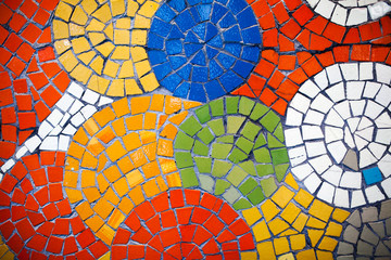 Colorful mosaic tiles Wall mural