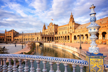 Plaza de Espana (Spain square) in Seville, Andalusia Wall mural
