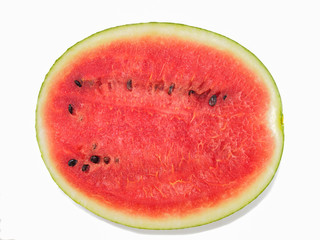 Watermelon slice top view of isolated