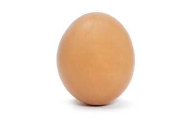 Single chicken egg isolated on white background with clipping path.