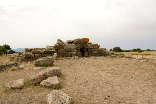 Sardinia ruins/Giants' grave of Domu e S'Orku.Siddi
