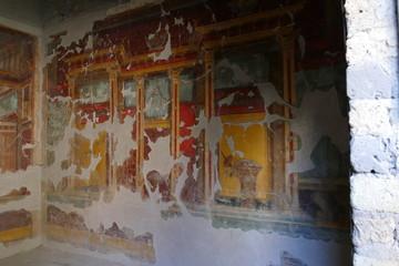 Wandmalerei in Pompeji